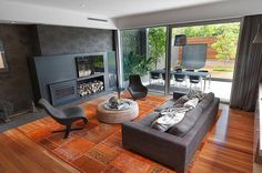 living room - dark orange idea