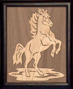 Free Scroll Patterns   SLD376 - Overlay Horse Portrait Pattern