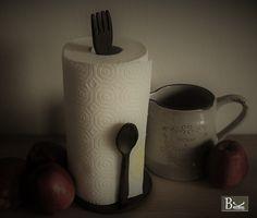 Verkauf über ebay (bk-trenddesign_de) Küchenrollenhalter Gusseisen Landhaus Vintage