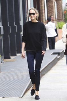 skinnies + loafers