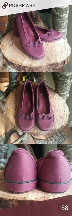 Burgundy Purple Wine Grasshopper by Keds Flats 7.5 Burgundy Grasshopper Keds flats, barely worn. Small mark on heel shown in the 3rd picture. Cotton fabric upper. Keds Shoes Flats & Loafers