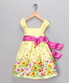 Take a look at this Pastel Yellow Meadow Dress - Infant & Toddler by Nannette on #zulily today!