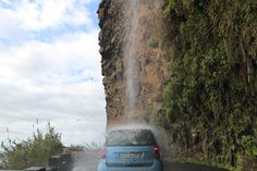 Car wash in Madeira Absolutely automatic :) #carwash #waterfall