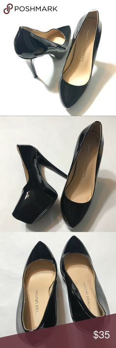 "Chinese Laundry Black Patent Leather Platforms Excellent condition; Black patent leather; Heel ht. 5.5"" Super sexy! Chinese Laundry Shoes Heels"