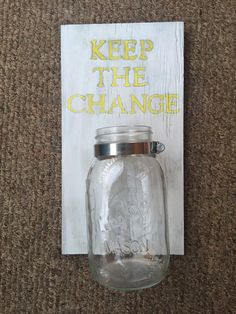 """Laundry Room Decor- """"Keep The Change"""" Holder by MyVintageUnique on Etsy https://www.etsy.com/listing/260578806/laundry-room-decor-keep-the-change"""