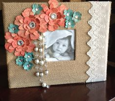 Shabby Chic Wedding Guest Book / Scrapbook / Burlap  by JennyPie5, $45.00