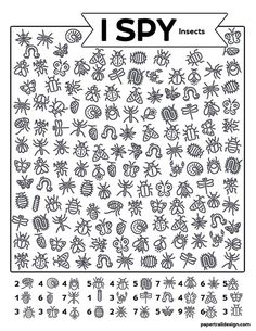 Print this I spy insects activity to help kids stay busy and learning on a hot summer day or a rainy winter day while stuck inside. #papertraildesign #insects #kidsactivities #kidsactivity #indooractivity #school Insect Activities, Educational Activities, Preschool Activities, I Spy Games, Hidden Pictures, Paper Trail, Activity Sheets, Classroom Inspiration, Summer School