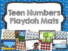 Teen Numbers Playdoh Mats include 5 separate themed mats with matching number cards. Students draw a number card, place it on the mat, and show the quantity with playdoh. Afterwards, simply squish and repeat for a fun and engaging math center!If you like this product, you will LOVE No Prep Number Sense Bundle===============================================================================================I would love to hear from you, please leave me a rating & comment!