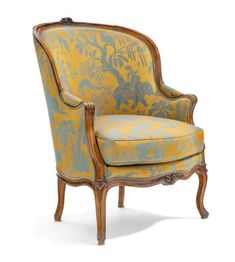 Funky Furniture, Painted Furniture, Furniture Design, Chair Upholstery, Chair Fabric, Bergere Chair, Armchair, Victorian Sofa, Vintage Chairs