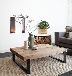 Table Decor Living Room, Living Room Interior, Home Living Room, Table Furniture, Home Furniture, Deco Table, Sweet Home, House Design, Decoration