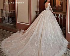 2020 Luxury wedding gown Shiny Beaded Waist Bridal wear Lace Ball Gown Wedding Dress Floral Lace Applique Princess wedding gown - Quinceanera Dresses - Ideas of Quinceanera Dresses Bride Gowns, Bridal Dresses, Wedding Gowns, Lace Wedding, Luxury Wedding, Dream Wedding, Lace Ball Gowns, Dresses Short, Princess Wedding