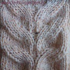 Узор для вязания спицами Ажурная коса