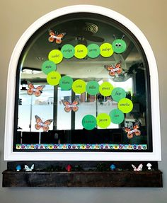 transformations happening daily... 🐛 🦋 #caterpillarcare, #caterpillars, #butterflies, #windowart, #windowdecor, #transformationshappeningdaily, #tranform, #fromcaterpillartobutterfly. Kids Daycare, Window Art, Child Day, Caterpillar, Shit Happens, Butterflies