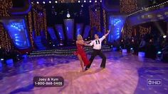 "Joey Fatone & Kym Johnson - Rumba Dancing With The Stars Season 4 Week 5 April 16, 2007 Song: ""Besame Mucho"" by João Gilberto Score: 25 (8-8-9)"