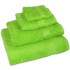 Lime Green Hand Towels