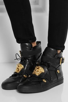 Versace shoes so over the top...but I would rock them!!