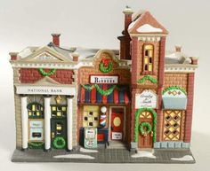 Dept 56 CHRISTMAS IN THE CITY RIVERSIDE ROW SHOPS