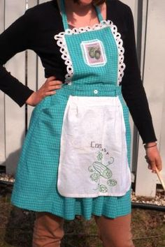 Cool as a Cucumber Upcycled Apron by ZigZagity on Etsy, $32.00