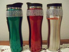 Adorable coffee tumblers for those who want to drink their coffee or hot tea with some holiday bling!