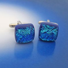 Aqua Cufflinks for Men  #howmendress #menswear #mensfashion