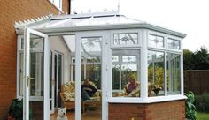 Exterior photo of a Victorian conservatory