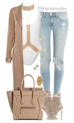 """Untitled #2703"" by highfashionfiles on Polyvore featuring Frame, Norma Kamali, Betsey Johnson, Hoorsenbuhs and Rolex"