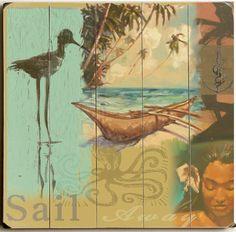 Sail Away Custom Sign: Custom Vintage Signs