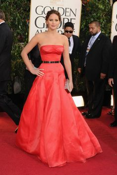 2013 Golden Globes - Best Actress – Motion Picture Musical or Comedy Winner Jennifer Lawrence in Dior Haute Couture
