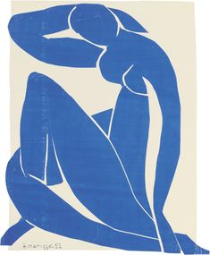 """""""Blue Nude"""" - Matisse is almost totally blind. Paintings of Henri Matisse: one of my fav; i have painted,drawn & made cutouts in Matisse style many many times Henri Matisse, Matisse Art, Matisse Cutouts, Matisse Pinturas, Matisse Paintings, Oil Paintings, Ouvrages D'art, Art And Illustration, Art Abstrait"""