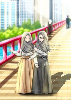 InShaAllah Ek bt bata tu jo bhi krne wali h 2019 m. ky krne wali h wo mt bata. Friend Cartoon, Friend Anime, Anime Best Friends, Cute Muslim Couples, Muslim Girls, Muslim Women, Cartoon Girl Images, Cute Cartoon Girl, Hijabi Girl