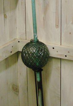 A vary nice antique glass lightning rod ball.