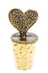 Image South African Lovely Heart Wine Bottle Stopper