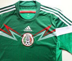 Mexico 2013/2015 home football shirt by Adidas #mexico #mexicoteam #adidas #adidasfootball #nationalteam #teammexico #soccerjersey #footballshirt #camiseta #jersey National Football Teams, Adidas, Football Shirts, Soccer, Tops, T Shirts, Futbol, Football Jerseys, European Football