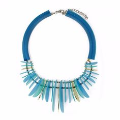Channah African Style Chunky Tribal Statement Necklace - kubitzi