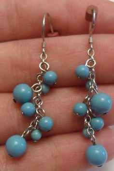 Sterling Silver Dangle or Drop Earrings by onetime on Etsy, $4.25