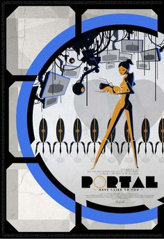 Cinematic video game posters- Portal