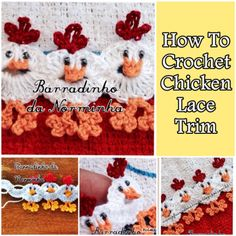 The Homestead Survival | How To Crochet Chicken Lace Trim | http://thehomesteadsurvival.com