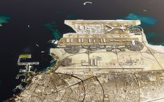 Rem Koolhaas' OMA has been selected to masterplan the new Airport City linking Doha, Qatar, with Hamad International Airport. Hamad International Airport, Plan Maestro, Masterplan, Gothic Architecture, Urban Design, Recherche Google, City Photo, Cool Photos, Master Plan