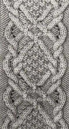 Aran Lace.jpg 6 - Book by Annie Maloney ~~ This is SO lovely. I think the cable in the Achillea cowl is inspired in this one, only with more visible YO's