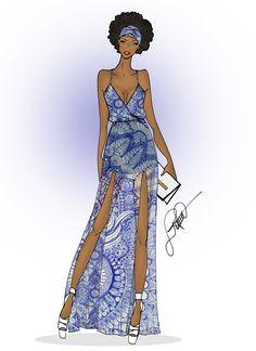 Black power girl ♥   #vestidolongo #desenhodemoda #fashion #fashionillustrator #ilustração #ilustraçãodemoda