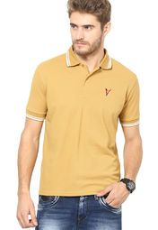 dbffefca Buy The Vanca Mustard Yellow Solid Polo T-Shirts Online - 2537965 - Jabong