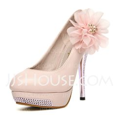 But without the flower...  Pumps - $30.99 - Leatherette Stiletto Heel Closed Toe Platform Pumps With Rhinestone Flower (085024454) http://jjshouse.com/Leatherette-Stiletto-Heel-Closed-Toe-Platform-Pumps-With-Rhinestone-Flower-085024454-g24454