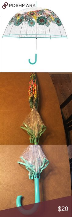 Vera Bradley bubble umbrella Flower shower and rain days. Never been used! Vera Bradley Accessories Umbrellas