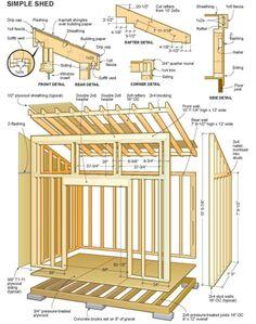 Apr 2020 - Diy garage shed plans. The backyard shed plan is your best choice. Diy Storage Shed Plans, Small Shed Plans, Shed Plans 8x10, Shed House Plans, Lean To Shed Plans, Wood Shed Plans, Small Sheds, Outdoor Storage Sheds, Shed Building Plans