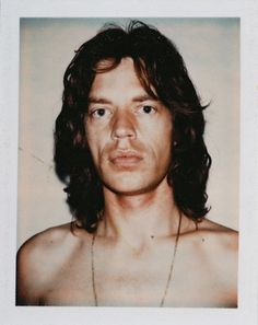 Andy Warhol et ses polaroids - Mick Jagger Rolling Stones - Website : 7zic.fr