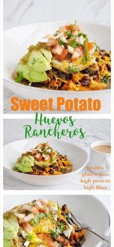 Sweet Potato Huevos Rancheros (healthy, gluten-free, high protein, high fiber) - Honey, Whats Cooking