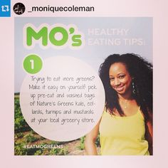 Nature's Greens (@naturesgreens) | We are happy to announce that we have partnered with @_moniquecoleman! She will help us promote leafy greens. Check in with us @naturesgreens each Tuesday as she shares her healthy tips to #motivate and #inspire you! --- #MoHealthyTips #HealthyTipTuesday #NaturesGreens #EatMoGreens | Intagme - The Best Instagram Widget