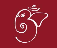 Ganesh Om Symbol Tattoo Over Red Background | Tattoobite.