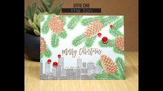 Wintry Skyline with Holiday Cones The Ton Stamps, Mistletoe, Kisses, Confetti, Outline, Christmas Cards, Vogue, Tags, Holiday