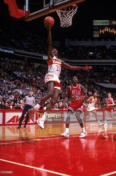 Basketball Season, Basketball Pictures, Basketball Shirts, Atlanta Hawks, Atlanta Georgia, Philips Arena, Dominique Wilkins, Michael Jordan Chicago Bulls, Nba Season